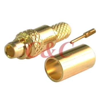 MMCX Straight Plug Crimp for RG178u , RG196u