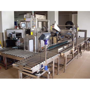 Auto Carton Erector, Weighing, Sealing and Strapping Line