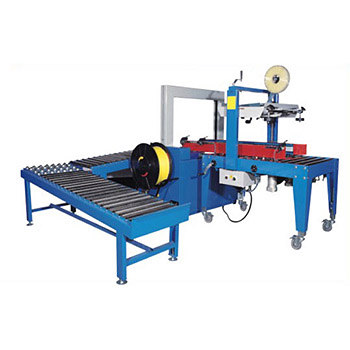 Auto Carton Sealing + Fully Auto Strapping System