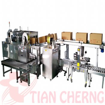 SUS Carton Sealer + Strapping Machine