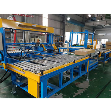 Fully Auto Carton Loading Sealing with Robot Stacking Packing System