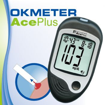 OKmeter AcePlus Blood Glucose Monitoring System