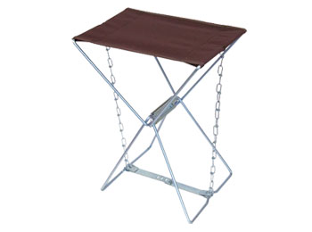 Portable Folding Camping Stool With Canvas Seat