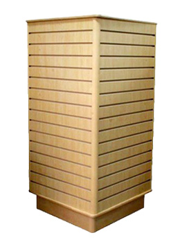 Square Maple Slatwall Display Stand