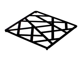 Black Square Iron Pot Trivet