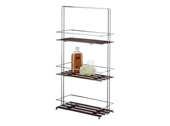 3 Tier Chrome Bathroom Storage Stand