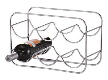 2 Tier Chrome Wire Wine Bottle Holder