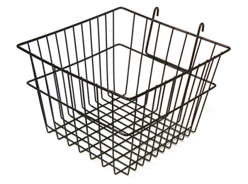 """12"""" Square Black Wire Wall Hanging Basket"""