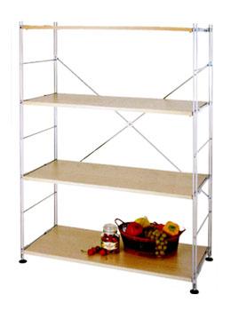 4 Tier Open Bookcase Storage Organizer