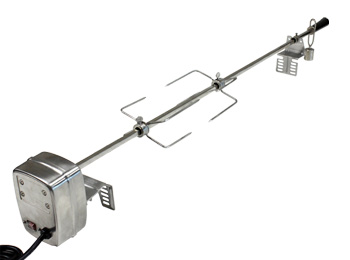 AC Charcoal Barbecue Spit Rotisserie Kit