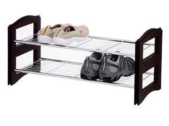 2 Tier Stackable Shoe Storage Rack