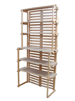 6-Shelf Wooden Retail Shelving Unit