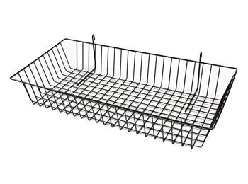 Black Gridwall Metal Wire Baskets