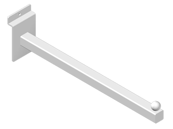 Slatwall Square Tube Straight Arm Faceout