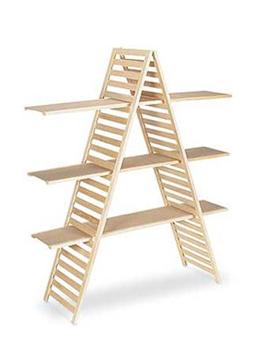 3 Tiers Wooden A-Frame Shelf