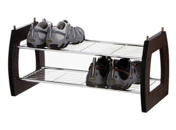 2 Tier Stackable Shoe Storage Shelf