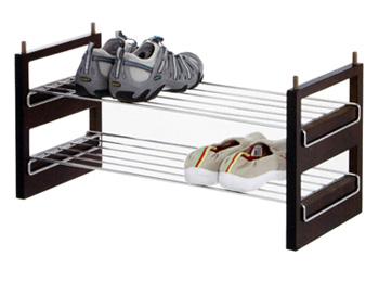 2 Tier Stackable Wire Shoe Rack