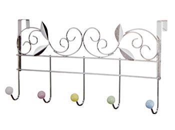 Colorful Beads Over Door 5 Hook Rack