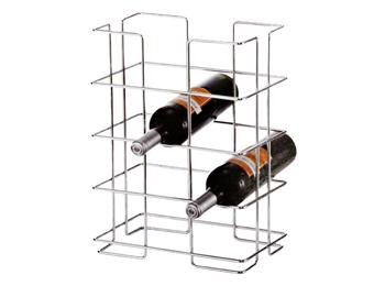 12 Bottle Wine Storage Chrome Display Holder