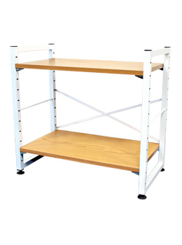 2 Tier Small Metal Home Shelf