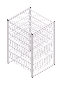 7 Tier Wire Basket Storage Drawers