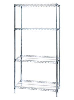 4 Shelf Wire Storage Shelving Unit