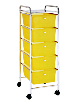 5 Tier Removable Plastic Storage Drawers Cart