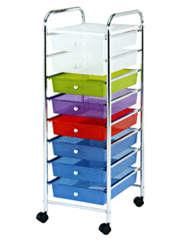 8 Tier Removable Plastic Storage Drawers Cart