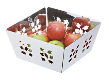 Countertop Metal Fruit Basket Stand