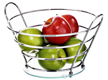 Chrome Wire Fruit Bowl For Counter
