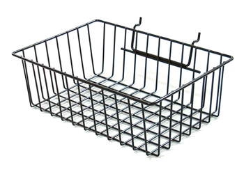 Small Wire Mesh Storage Baskets for Pegboard Displays