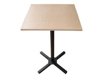 24 inches Square Wood Pedestal Table
