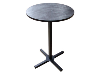 Pedestal Cocktail Table w/ metal base