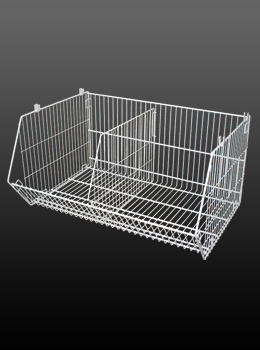 Stackable Wire Grocery Basket Rack