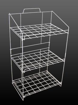 Free Standing White Wire Shelf Unit
