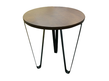 Steel Base Round Table w/ Hairpin Legs