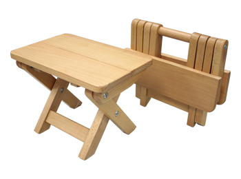 Portable Folding Wooden Stool