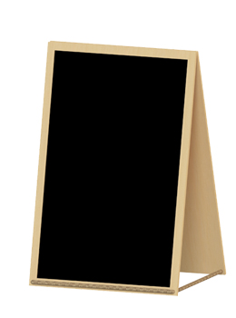 Small Wooden Framed Chalkboard With Stand