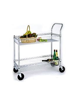 Kitchen Rolling Cart With Shelves
