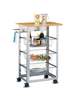 Metal Rolling Kitchen Serving Cart