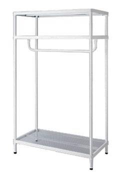 Metal Mesh Clothes Storage Hanging Rack