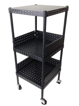 Black Tower Bathroom Storage Utility Cart