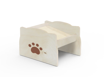Elevated Wooden Pet Bowl Stand