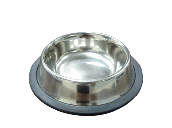Stainless Steel Pet Bowl with rubber base