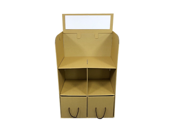 Floor Cardboard Stand with 2 Drawers
