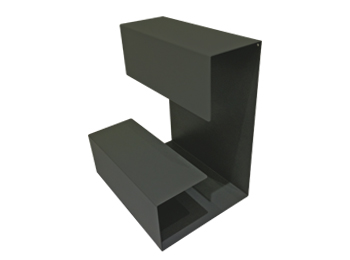 Black L Shaped Desktop Storage Rack