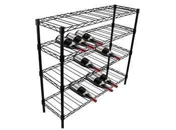 4-Tier Free Standing Adjustable Wine Rack