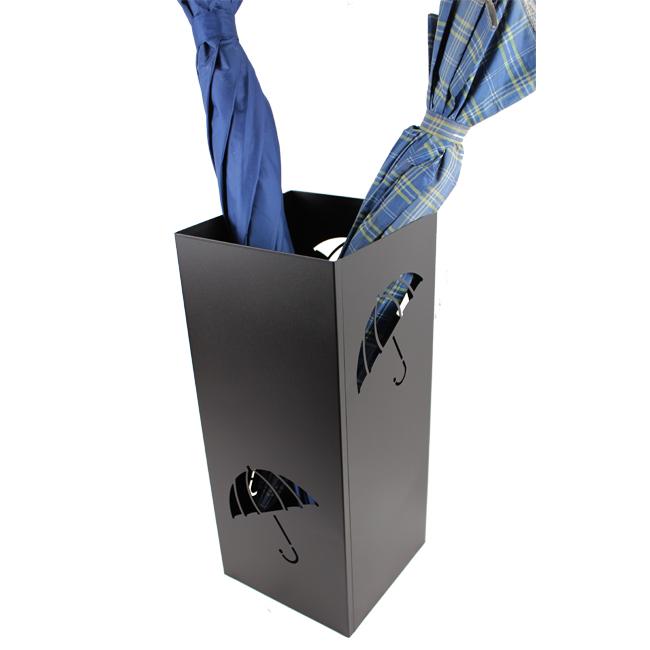 Black Metal Square Umbrella Holder