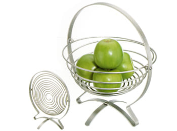 Metal Fish Shaped Foldable Fruit Bowl