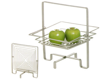 Wire Square Foldable Fruit Basket Bowl